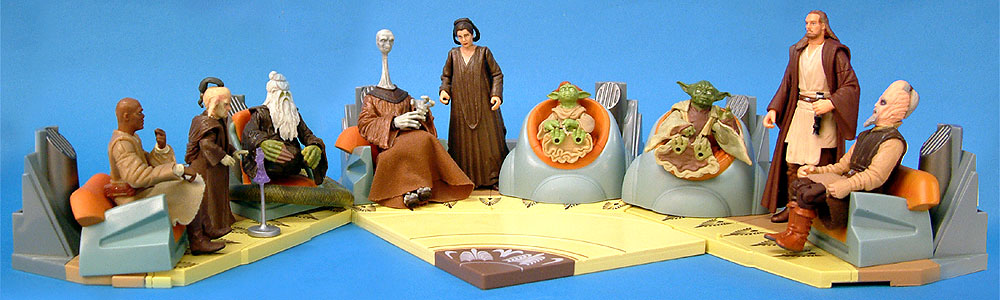 2003's Jedi High Council Scenes 1 and 2 and 2004's Scene 1