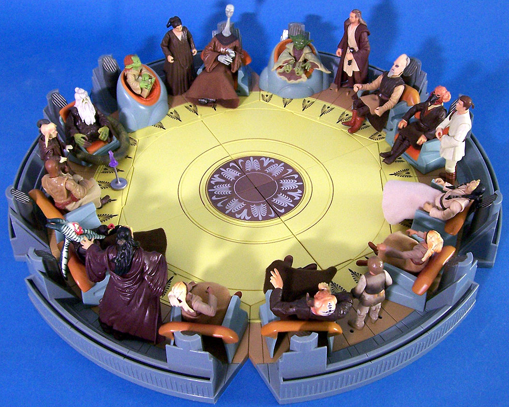 The Completed Jedi High Council Screen Scene