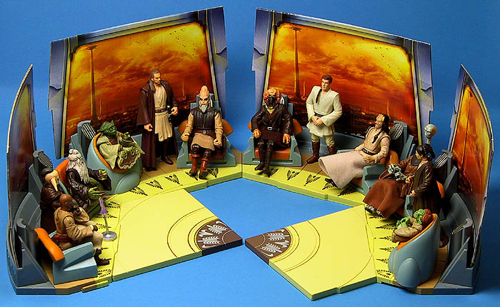 2003 Jedi High Council Screen Scenes 1 and 2 and 2004's Scenes 1 and 4