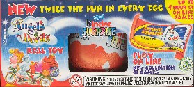 A typical Kinder Egg triple box