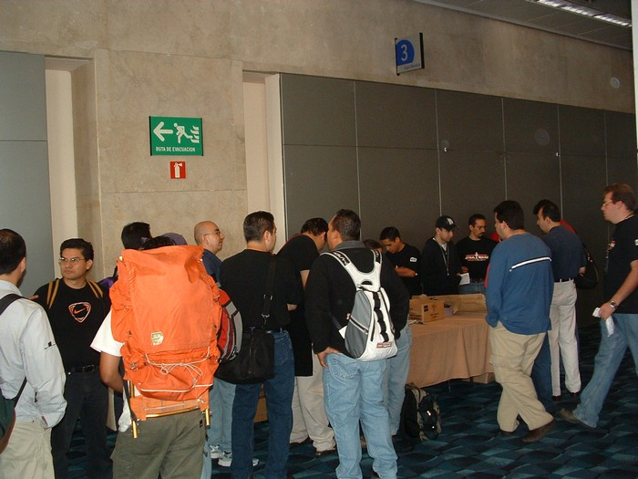 Fans line up