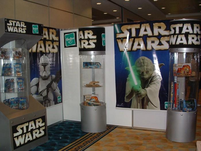 The Hasbro booth