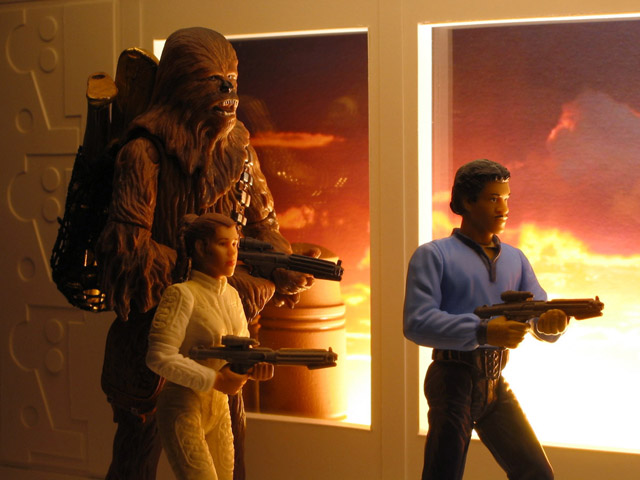 Chris McVeigh's Bespin Escape diorama