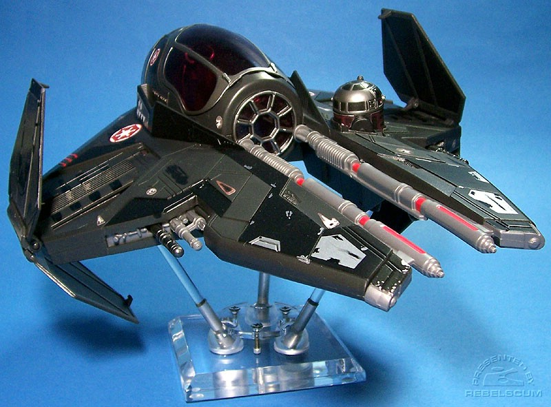 Darth Vader's Sith Starfighter on a 4'' FlexiDisplay stand