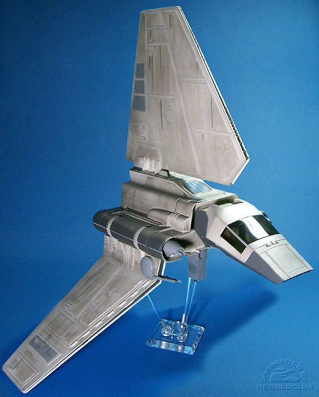 Imperial Shuttle on a 6'' FlexiDisplay stand