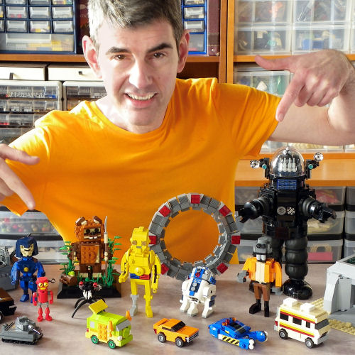 Eric Druon in his LEGO lab