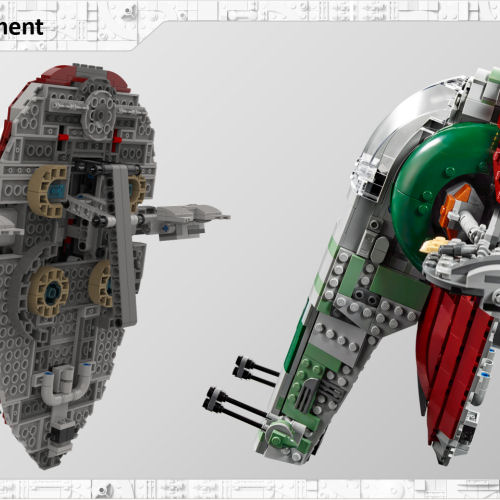 Michael Lee Stockwell discusses design origin of handle in LEGO Star Wars 75243 Slave I set