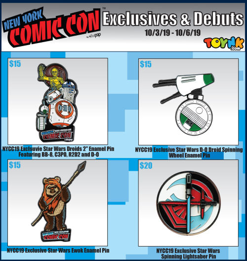 Toynk New York Comic Con 2019 Star Wars exclusives