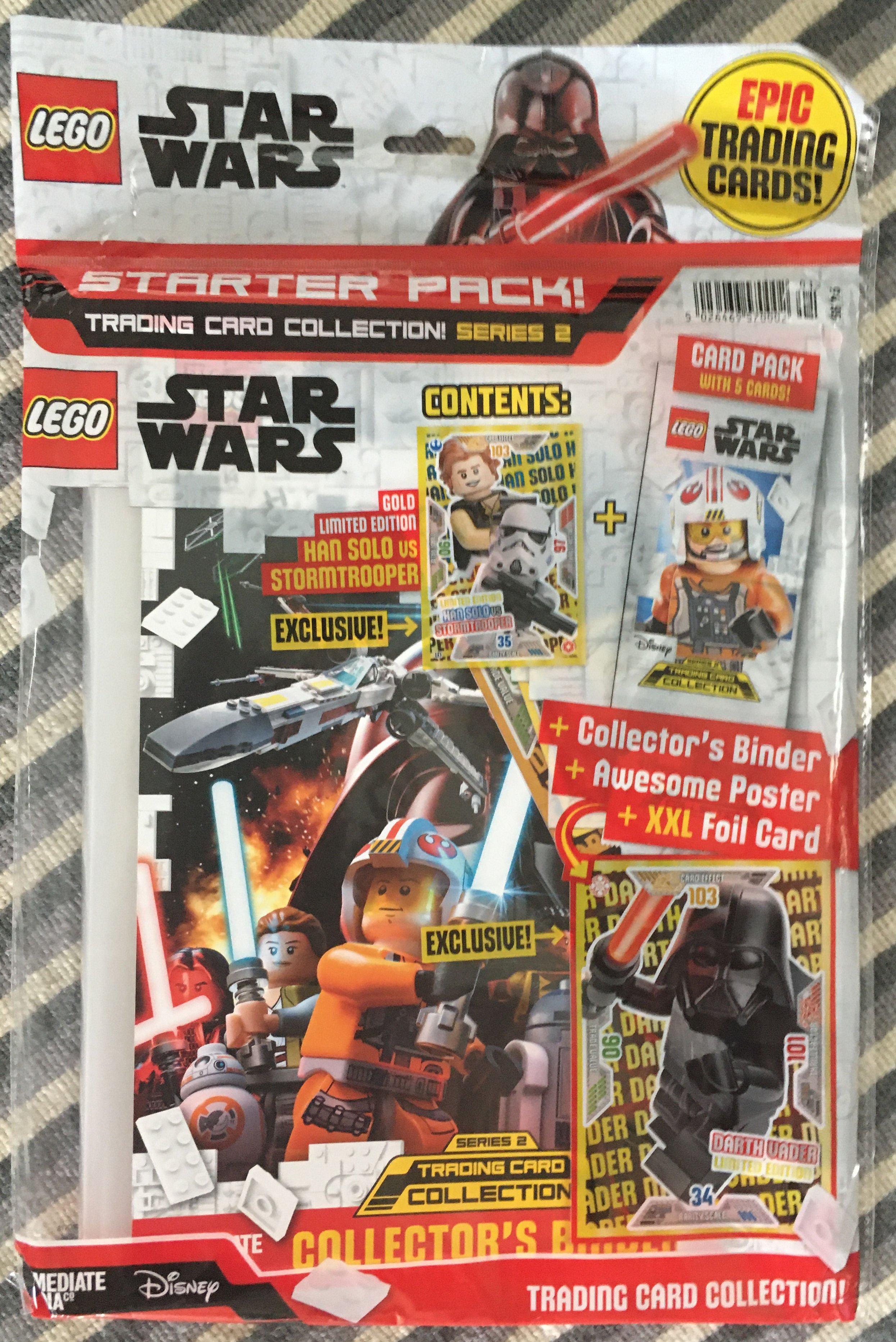le 9 1 Multipack LEGO STAR WARS-SERIE 1 Trading Cards